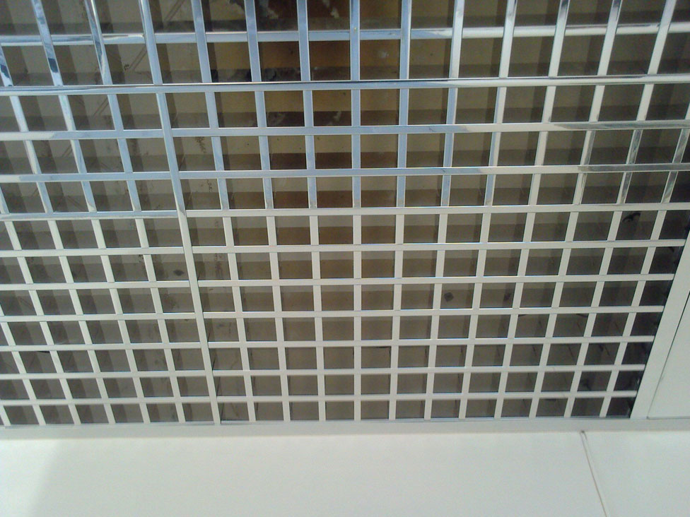 Open Grid Ceiling Mks Facade